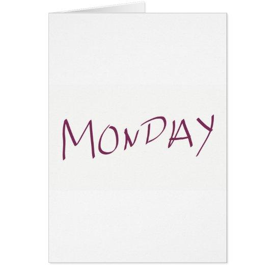 Monday Hälsningskort