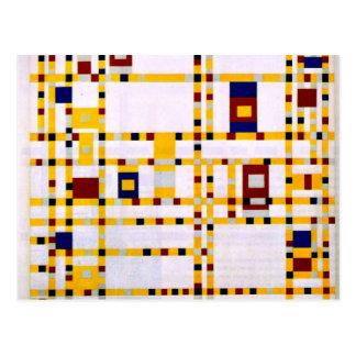 Mondrian - Broadway Boogie Woogie Vykort