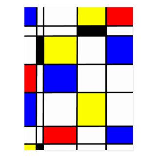 Mondrian konststil vykort