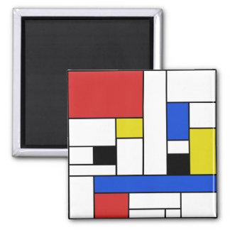 Mondrian linjer 2 flytta sig mycket långsamt magnet