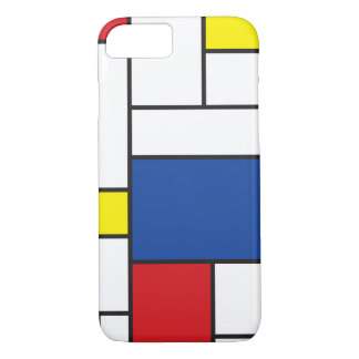 Mondrian Minimalist De Stijl Konst iphone case