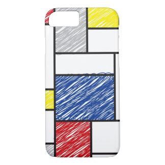 Mondrian Minimalist De Stijl Konst klottrar iPhone