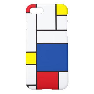 Mondrian Minimalist De Stijl modern konstfodral iPhone 7 Skal