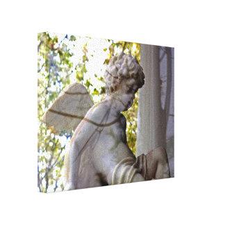 Monet Ange Dans LaFenetre kanfas Canvastryck