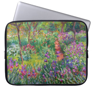 Monet Iristrädgård på den Giverny laptop sleeve