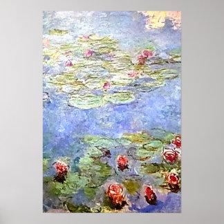 Monet vattenLillies affisch