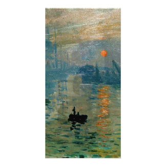 Monets intrycksoluppgång (levant soleil) - 1872 anpassade foto kort