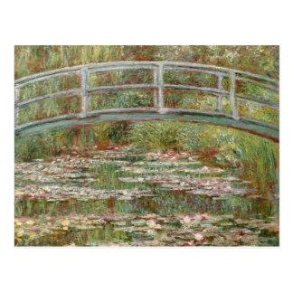 """Monets """"överbryggar över ett damm av näckrosor"""" vykort"""