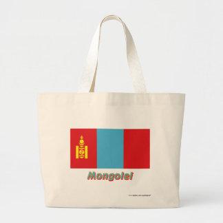 Mongolei Flagge mit Namen Kasse