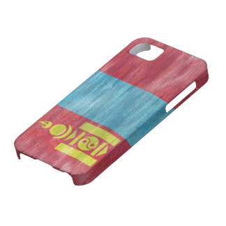 Mongoliet bedrövade mongolisk flagga iPhone 5 fodraler