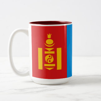 Mongoliet flaggamugg Två-Tonad mugg