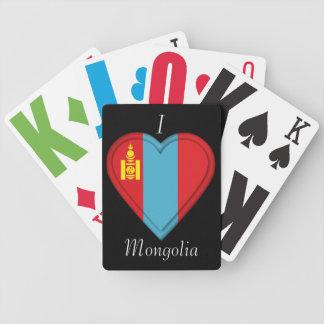 Mongoliet mongolisk flagga spelkort