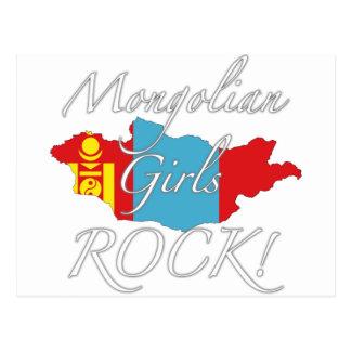 Mongolisk flickasten! vykort