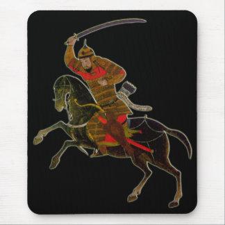 Mongolisk ryttare i strid musmatta