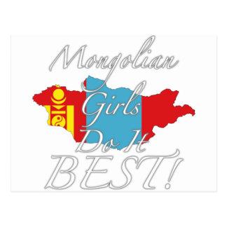 Mongoliska flickor gör det som är bäst! vykort