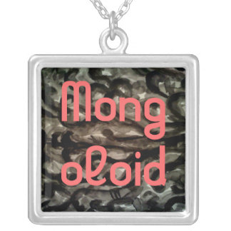 Mongoloid Smogy dimma Silverpläterat Halsband
