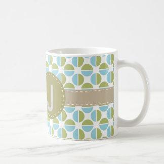 Mongram mönster kaffemugg