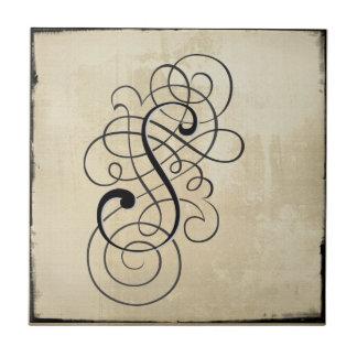 """mongram """"S"""" belägger med tegel Kakelplatta"""
