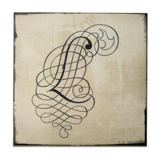 "mongram, ""som jag"" belägger med tegel kakelplatta"