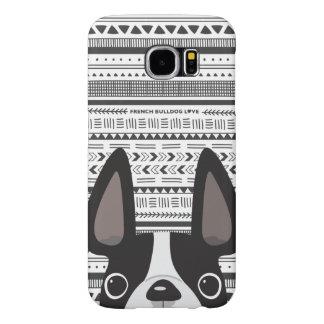 Mono fransk BW för bulldoggkärlekGeo fodral Galaxy S5 Fodral