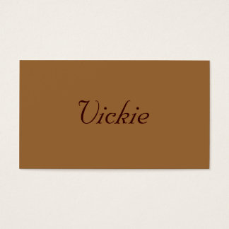 Monochromatic i kanelbrun rulle visitkort