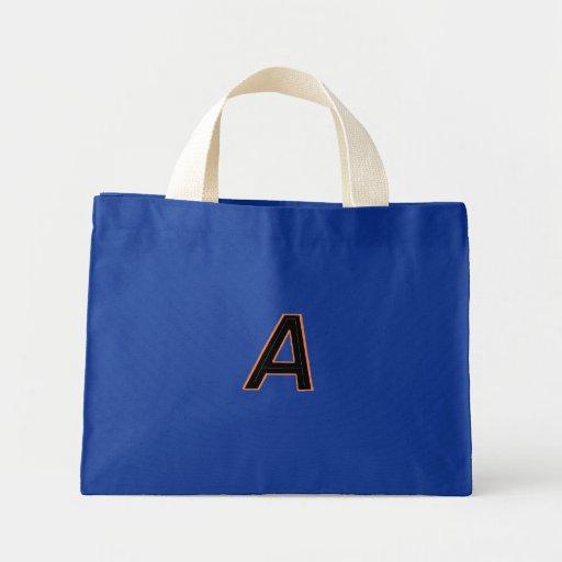 "Monogram ""A "", Tote Bags"