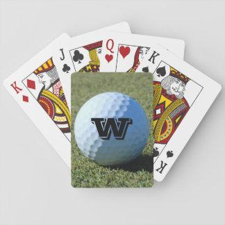 (Monogram - det) golfbollen på det gröna Casinokort