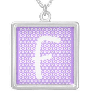 Monogram F Silverpläterat Halsband