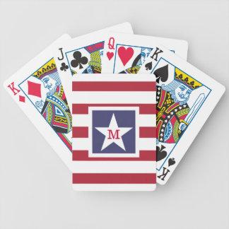 Monogram för anpassadeUSA-flagga Spelkort
