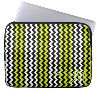 Monogram för anpassningsbar för grönt- och vitspar laptop fodral