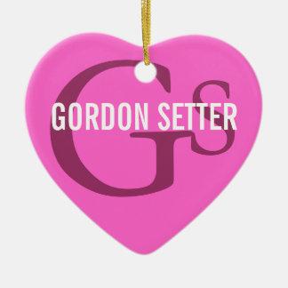 Monogram för avel för Gordon Setter Julgransprydnad Keramik