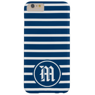 Monogram för blåttH-rand Barely There iPhone 6 Plus Skal