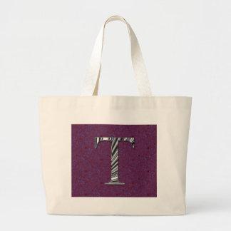 Monogram för brev T Tote Bag