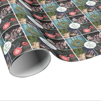 Monogram för foto för Instagram Hygge jul Presentpapper