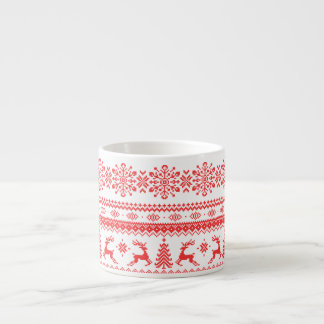 Monogram för mönster för isle för mässa för espressomugg