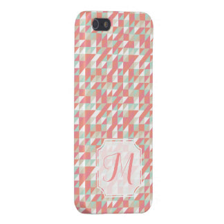 Monogram för mönster Iphone 5 för Matte triangel iPhone 5 Hud