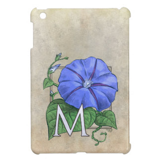 Monogram för morgonhärlighetblomma iPad mini fodral