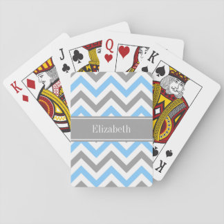 Monogram för namn för grått för sparre för spelkort