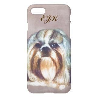 Monogram för Shih Tzu hundanpassade iPhone 7 Skal