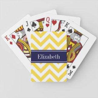 Monogram för sparre för ananasvitLG marinblå känd Casinokort