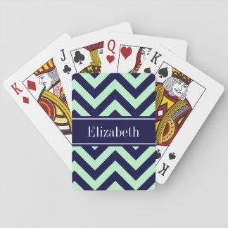 Monogram för sparre för MintmarinLG marinblå känd Casinokort