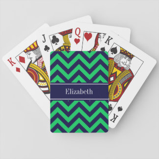 Monogram för sparre för smaragdmarinLG marinblå Casinokort
