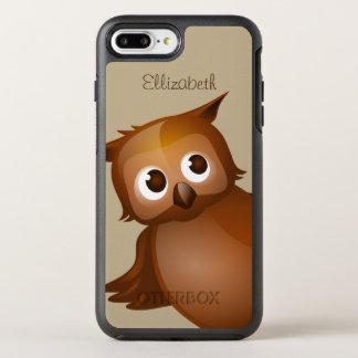 Monogram för uggla för tecknad för kallt gulligt OtterBox symmetry iPhone 7 plus skal