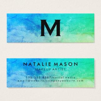 Monogram för vattenfärg för struktur för litet visitkort