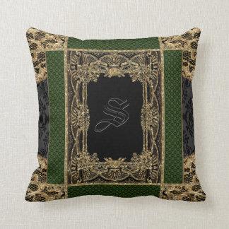 Monogram för Victorian för Sutton ställeEarl Kudde