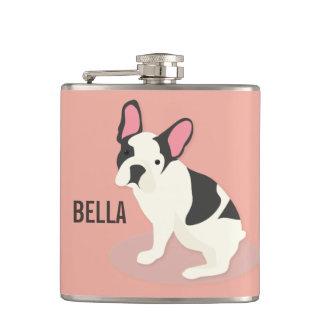 Monogram. Gullig fransk Bulldog. Fickplunta
