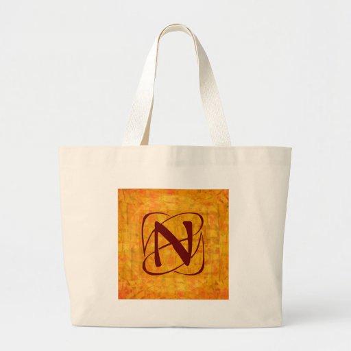 monogram tote bag