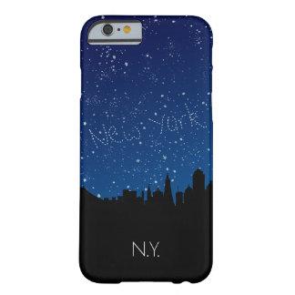 Monogram New York horisont på natten Barely There iPhone 6 Skal