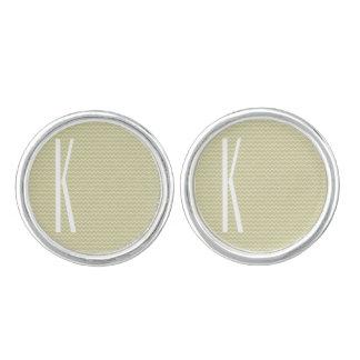Monogram på ljus sparre för vis mangröntkortkort cufflinks