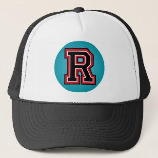 """Monogram """"R"""" märka med sina initialer Truckerkeps"""
